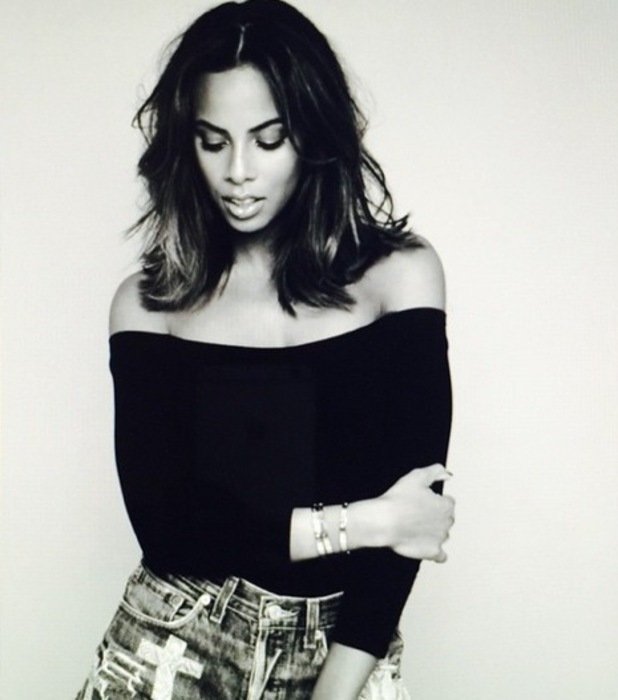 Rochelle Humes shows off her new haircut in an Instagram picture on 5 March 2015