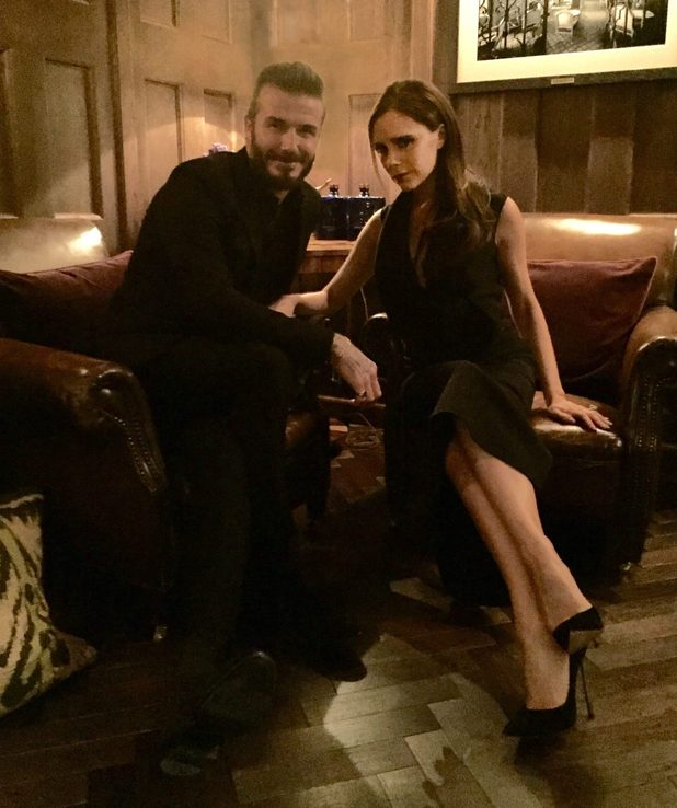 Victoria Beckham is supported husband David at the dinner for his new whisky brand - 1 March 2015.