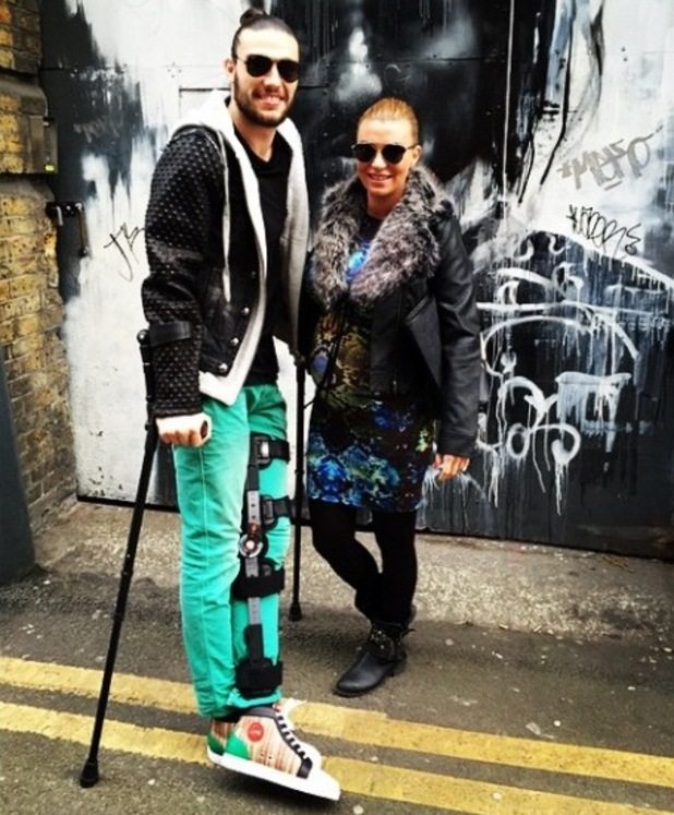Billi Mucklow and Andy Carroll in Shoreditch, London, 1 March 2015