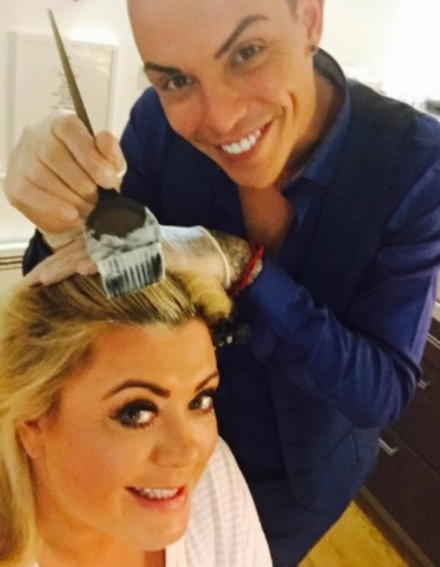 TOWIE's Bobby Norris dyes Gemma Collins' hair in between takes - 5 March 2015