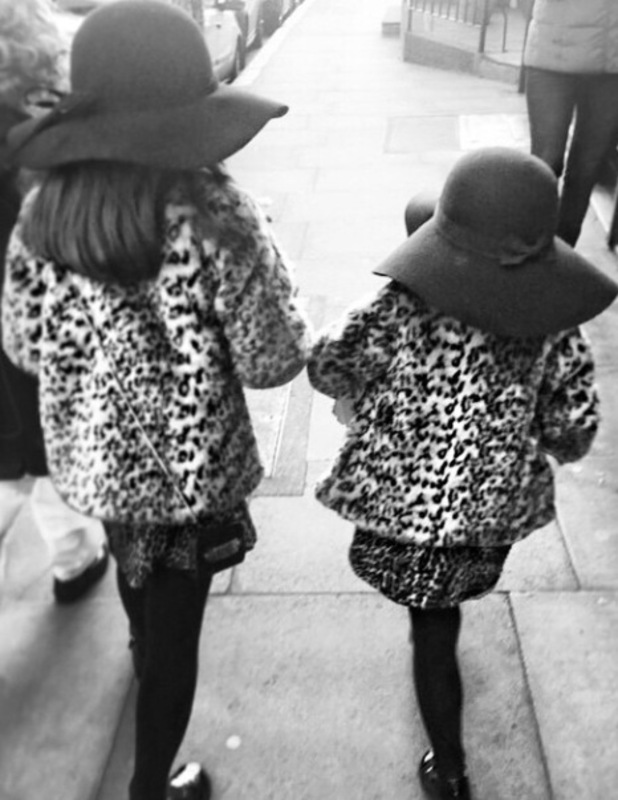 Myleene Klass' daughters Ava and Hero go to World Book Day dressed as their mum - 6 March 2015