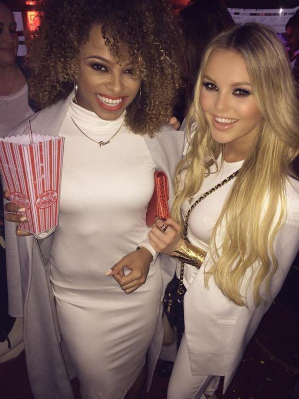 X Factor stars Fleur East and Betsy-Blue English at The Sun Bizarre Party hosted by Dan Wootton at Steam & Rye - 03/02/2015.
