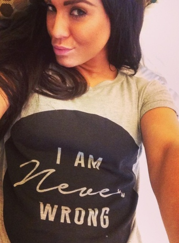 Vicky Pattison wears 'I am never wrong' statement tee, Instagram 5 March