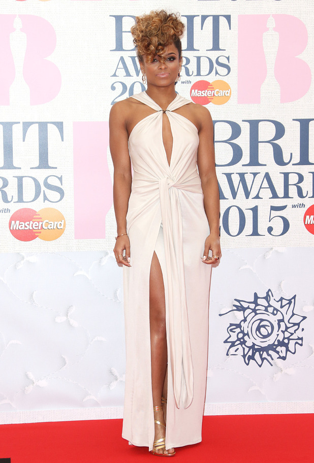 X Factor star Fleur East at the Brit Awards 2015 (Brits) held at the O2 - Arrivals - 25/2/2015.