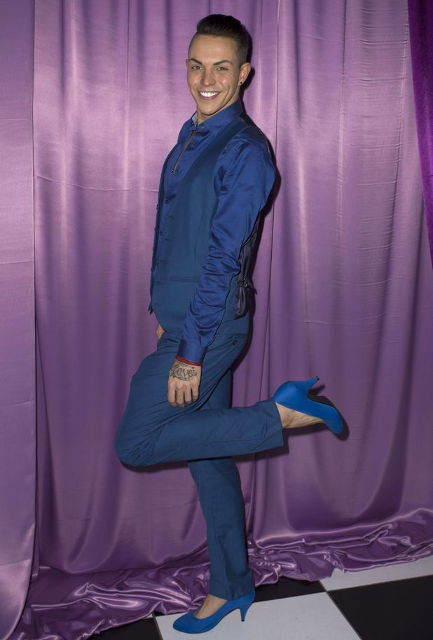 'The Only Way is Essex's Bobby Norris shows off his new heels at a party for International Womens Day, Britain - 04 Mar 2015