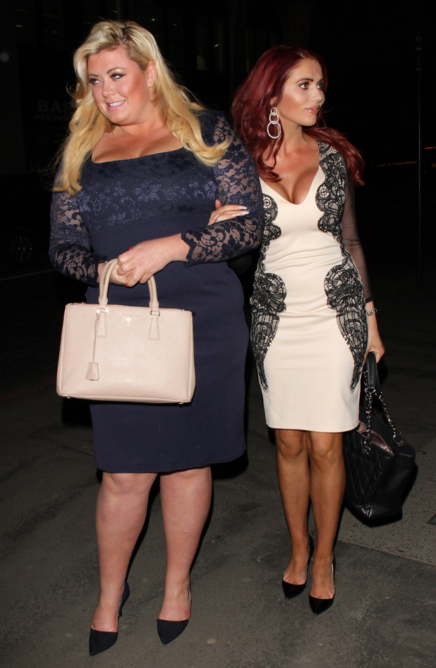 Gemma Collins and Amy Childs in London on March 2, 2015 in London, England.