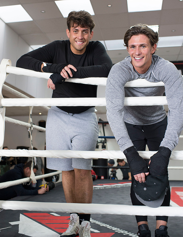 The Only Way is Essex' cast filming, Britain - 05 Mar 2015 Jake Hall at the boxing gym 5 Mar 2015