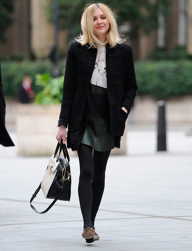 Fearne Cotton arriving at the BBC Radio 1 studios, 2 March 2015