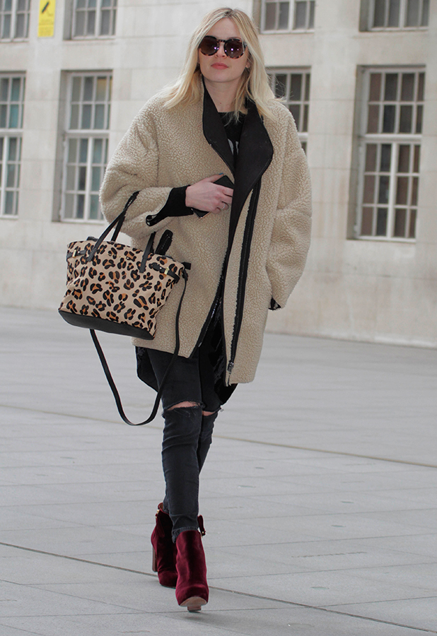 Fearne Cotton arriving at the BBC Radio 1 studios, 6 March 2015