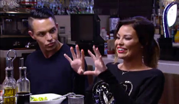 TOWIE's Jess Wright compliments Mario Falcone's bum, 1 March 2015 episode