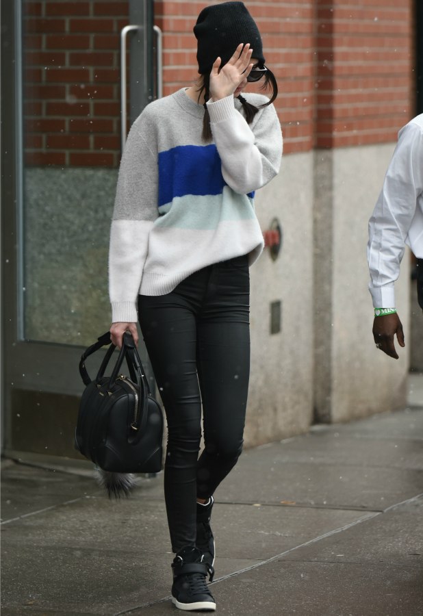 Kendall Jenner leaving a building in New York City, 3 March 2015