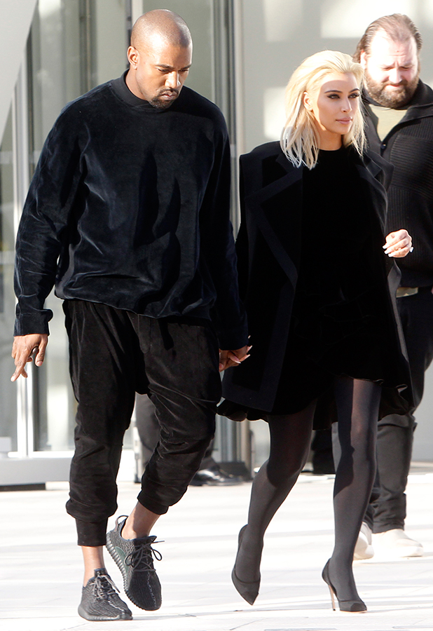 Kim Kardashian and Kanye West visit the Louis Vuitton Foundation in Paris, 5 March 2015