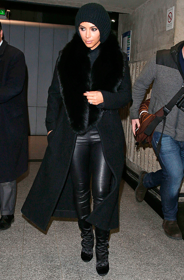Kim Kardashian arriving at Charles De Gaulle Airport 5 Mar 2015