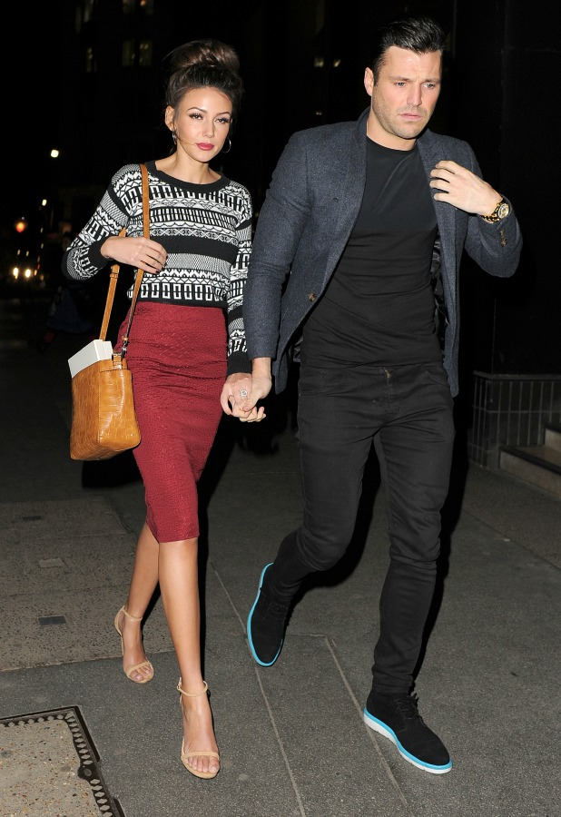 Mark Wright and Michelle Keegan at The Sun Bizarre party, London, 2 March 2015