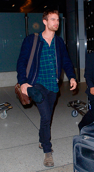 Theo James at Los Angeles International Airport (LAX), 5 March 2015