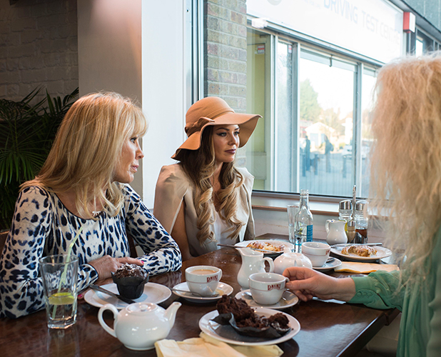 'The Only Way is Essex' cast filming, Britain - 03 Mar 2015 Lydia Bright, Debbie Bright, Jessica Wright and Carol Wright