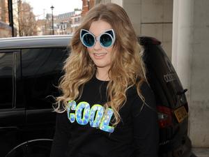 Ella Henderson arrives at Radio 1, BBC studios, London 12 March