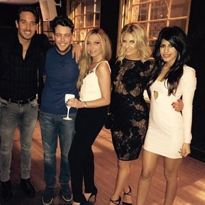 James Lock with TOWIE co-stars for 'Battle of the Clubs', LuXe, Essex 8 March