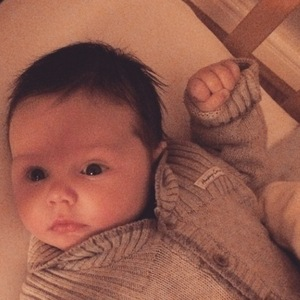 Una Foden shares sweet new picture of her baby son Tadhg - 11 March 2015.