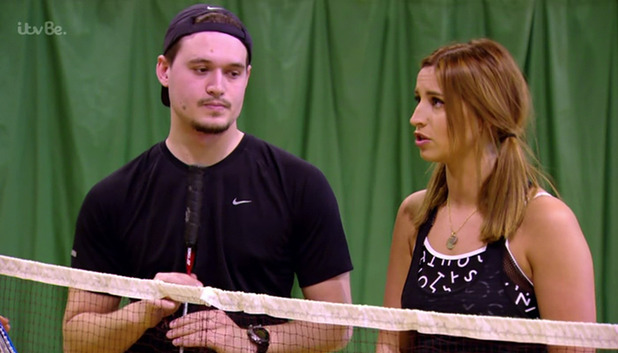 TOWIE's Charlie Sims and Ferne McCann on an episode of TOWIE - 3/3/2015.
