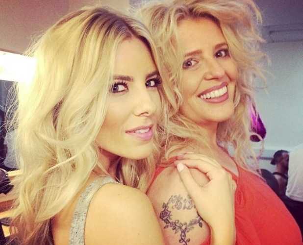 Mollie King and her make-up artist Celena Hancock pose for a picture on Instagram in November 2014