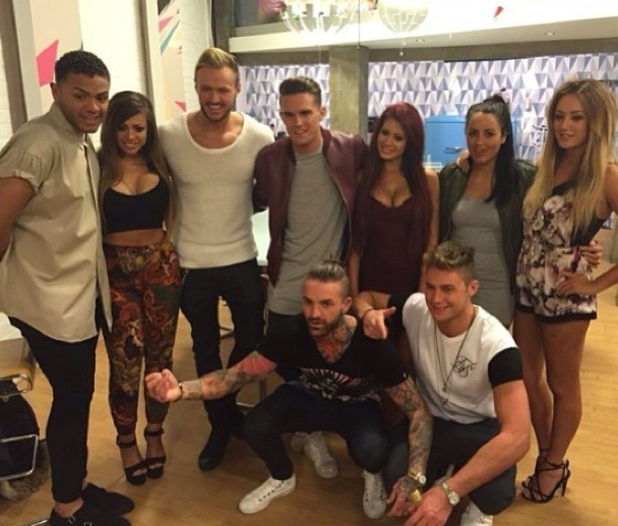 Nathan Henry with Chloe Etherington and Geordie Shore cast, Instagram 15 January