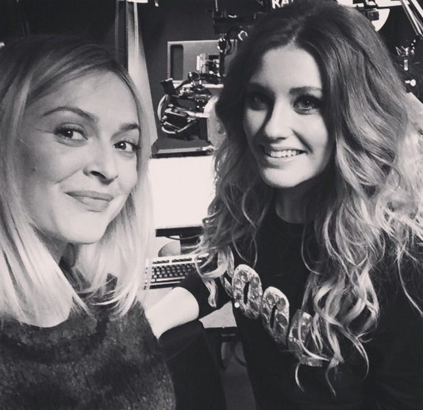 Fearne Cotton takes selfie with Ella Henderson in Radio 1's Live Lounge, Instagram 12 March