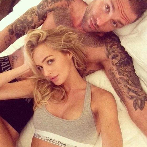 Calum Best and girlfriend Ianthe pose in intimate snap after Abu Dhabi holiday - 7 March 2015.