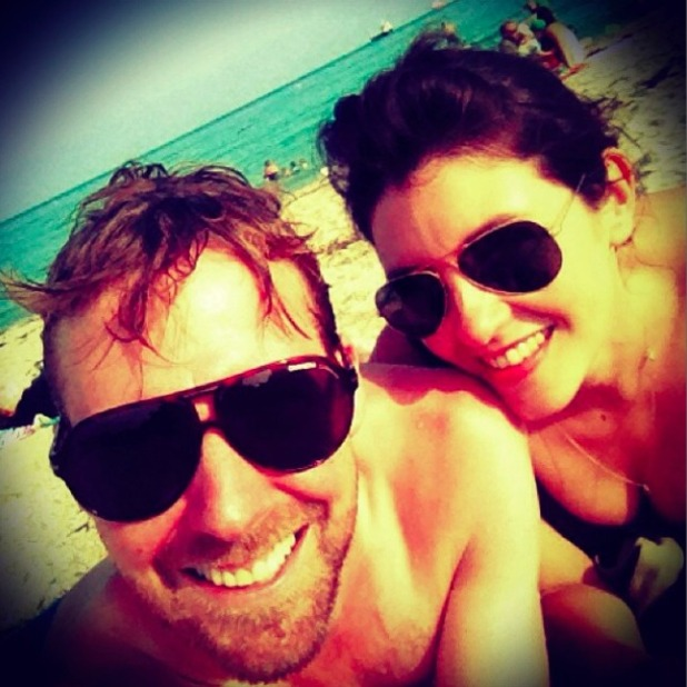 The Voice coach Ricky Wilson pictured with girlfriend Lesley Williams, 23 July 2014