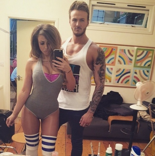 Holly Hagan and Kyle Christie share selfie on set of Geordie Shore advert, Instagram 12 March