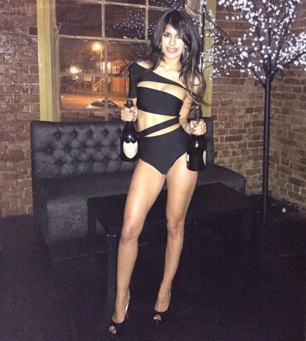 Jasmin Walia dresses in bikini for James Lock's club opening, Instagram 8 March