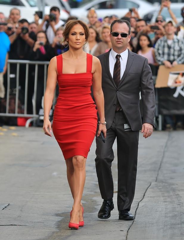 Jennifer Lopez seen arriving at ABC studios for Jimmy Kimmel Live 03/10/2015