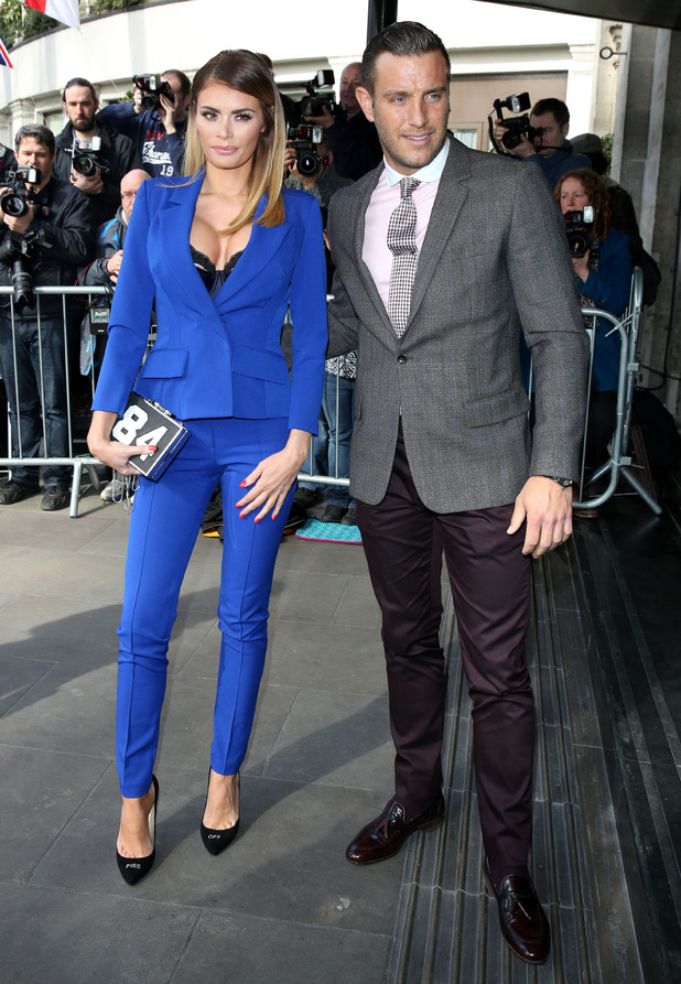 TOWIE's Chloe Sims and Elliott Wright at The Tric Awards 2015 - Arrivals - 10 March.