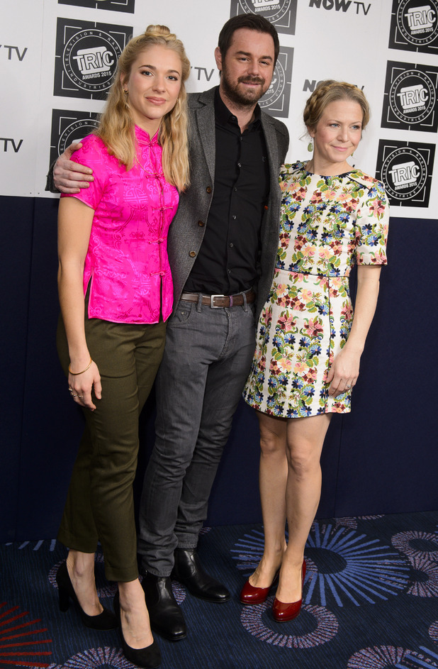 EastEnders stars Maddy Hill, Danny Dyer, Kellie Bright at the TRIC Awards, London, Britain - 10 Mar 2015.