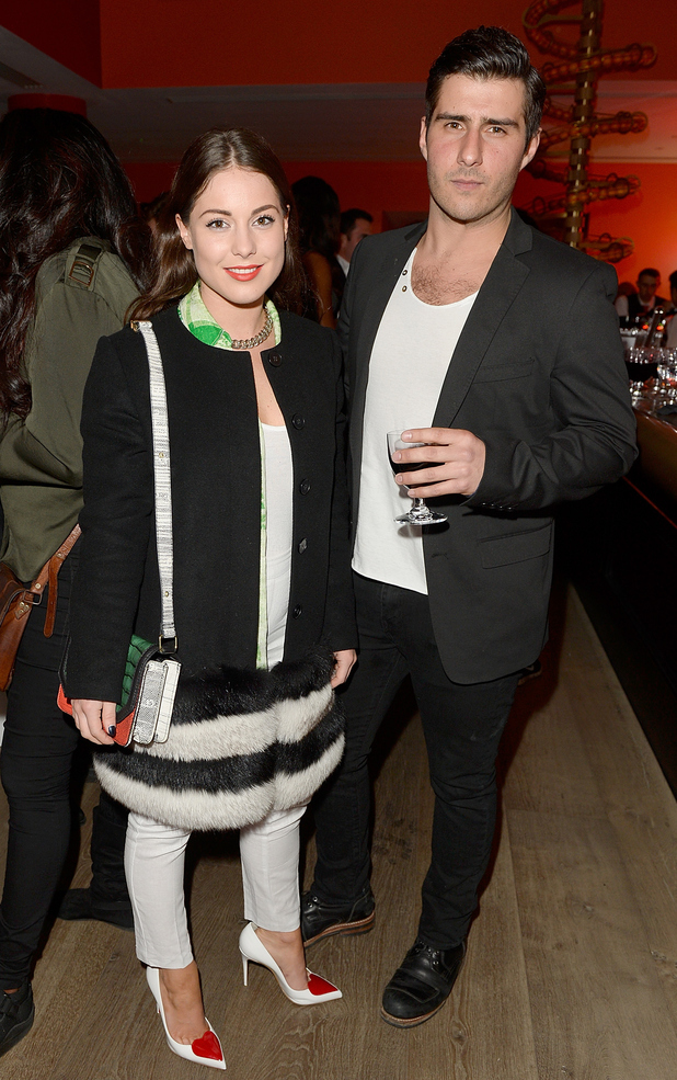 Louise Thompson and Alik Alfus attend the exclusive launch of new social shopping site Shopa, launched at The Ham Yard Hotel on March 10, 2015 in London.