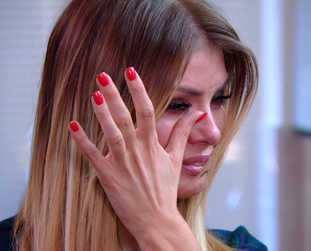 TOWIE publicity still for episode 11 March 2015: Chloe cries over Charlie drama