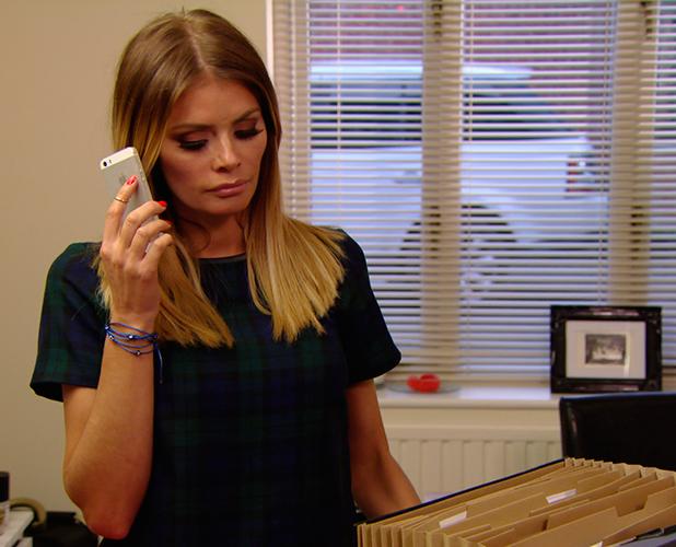 TOWIE publicity still for episode 11 March 2015: Chloe hears from Elliott