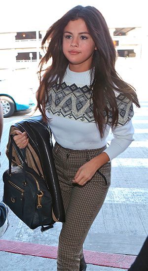 Selena Gomez at Los Angeles International Airport (LAX) 9 March 2015