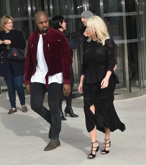 Kim Kardashian, Kanye West attend Louis Vuitton show at ...