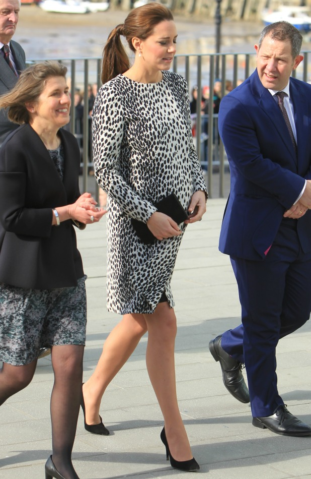 Catherine, Duchess of Cambridge visits an exhibition at the Turner Contemporary art gallery in Margate, 11 March 2015