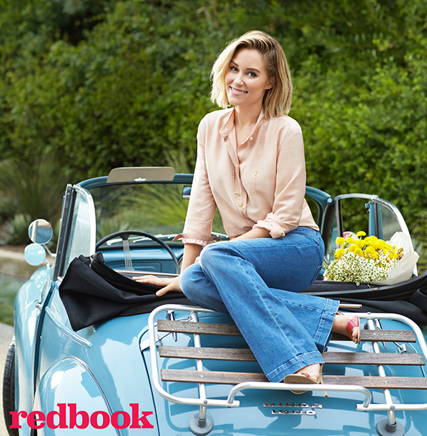 Lauren Conrad is the cover star for April 2015 issue of Redbook, available 17 March 2015
