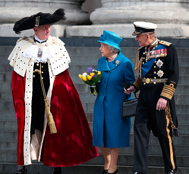 Queen Elizabeth and Prince Philip, Service of commemoration at St Paul's Cathedral to mark end of the Afghanistan war, 13 March 2015