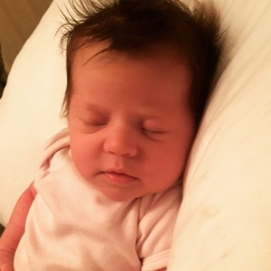 Dan Osborne shared a new photo of his baby daughter Ella - 15 March 2015.