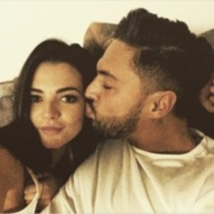TOWIE's Mario Falcone kisses girlfriend Emma in Instagram photo - 15 March 2015.