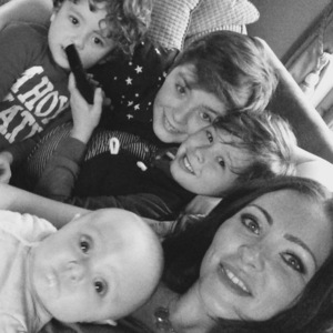 Natasha Hamilton and her sons Josh, Harry and Alfie and daughter Ella Rose, Twitter 15 March
