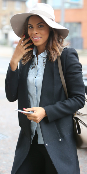 Rochelle Humes outside ITV studios, Southbank, London 19 March