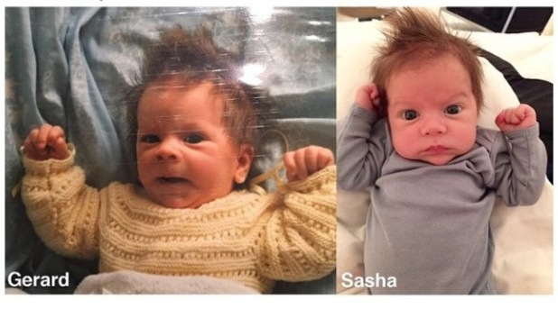 Shakira shares photo of baby son Sasha comparing him to Gerard Pique - 19 March 2015.