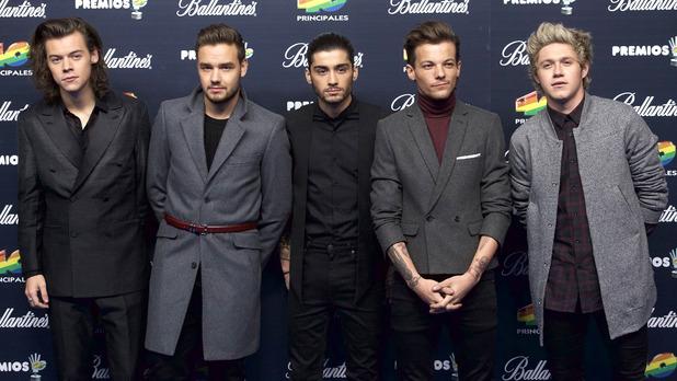 One Direction at the 40 Principales Awards 2014 Gala at Palacio de los Deportes - Photocall - 12/12/2014.