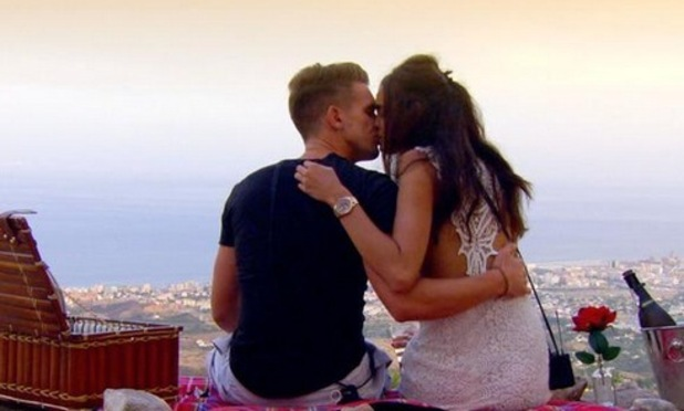 Gary Beadle and Anita Kaushik kiss during Ex On The Beach finale, MTV 17 March