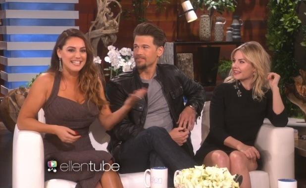 Kelly Brook, Nick Zano and Elisha Cuthbert on The Ellen DeGeneres Show 17 March